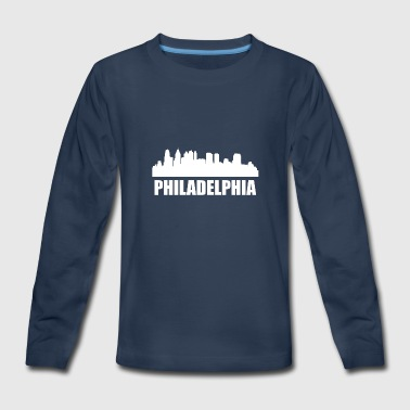 Philadelphia PA Skyline - Kids' Premium Long Sleeve T-Shirt