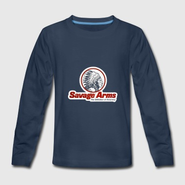Arms SAVAGE ARMS Classif Riffles Logo - Kids' Premium Long Sleeve T-Shirt