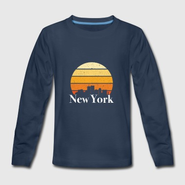 New York Sunset - Kids' Premium Long Sleeve T-Shirt