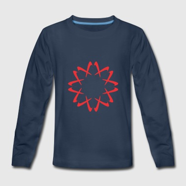Circular Circular Red - Kids' Premium Long Sleeve T-Shirt