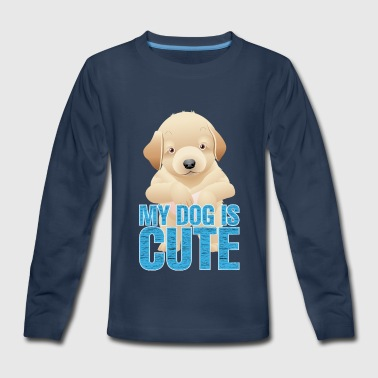 CUTE DOGS IS CUTE - Kids' Premium Long Sleeve T-Shirt