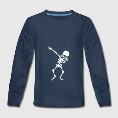 Dabbing Skeleton - Kids' Premium Long Sleeve T-Shirt