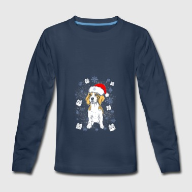 Beagle Santa Christmas Gift Dog Breed - Kids' Premium Long Sleeve T-Shirt