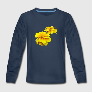 Marigold Two Yellow Marigolds - Kids' Premium Long Sleeve T-Shirt