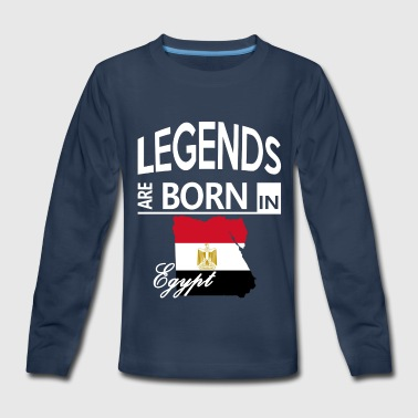 Egypt Born Legends Mom Dad Cool Love Birthday Gift - Kids' Premium Long Sleeve T-Shirt