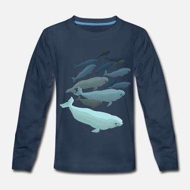 Beluga Beluga Whales Art - Kids' Premium Long Sleeve T-Shirt