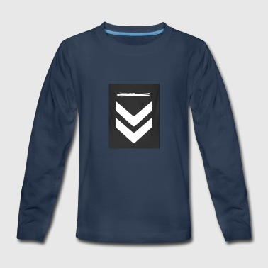 Downwards Arrow - Kids' Premium Long Sleeve T-Shirt