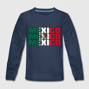 City And Colour MEXICO in FLAG COLOURS - Kids' Premium Long Sleeve T-Shirt