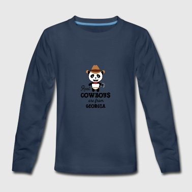 Real Cowboys are from Georgia  Shdjlo - Kids' Premium Long Sleeve T-Shirt