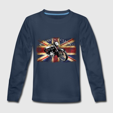 Bsa Motorcycle Vintage Unique BSA Motorcycle by patjila2 - Kids' Premium Long Sleeve T-Shirt