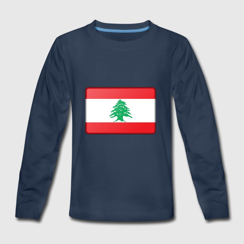Lebanon Flag - Kids' Premium Long Sleeve T-Shirt