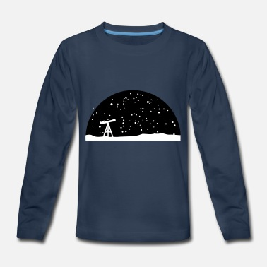 Nasa Starry Night Astronomy, Telescope and starry night sky - Kids' Premium Longsleeve Shirt
