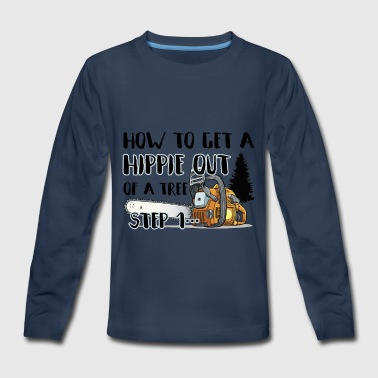 Sawmill How To Get A Hippie Out - Kids' Premium Long Sleeve T-Shirt