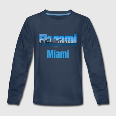 Communism Flagami Miami, United States, Tourism Country Tourist Gifts - Kids' Premium Long Sleeve T-Shirt
