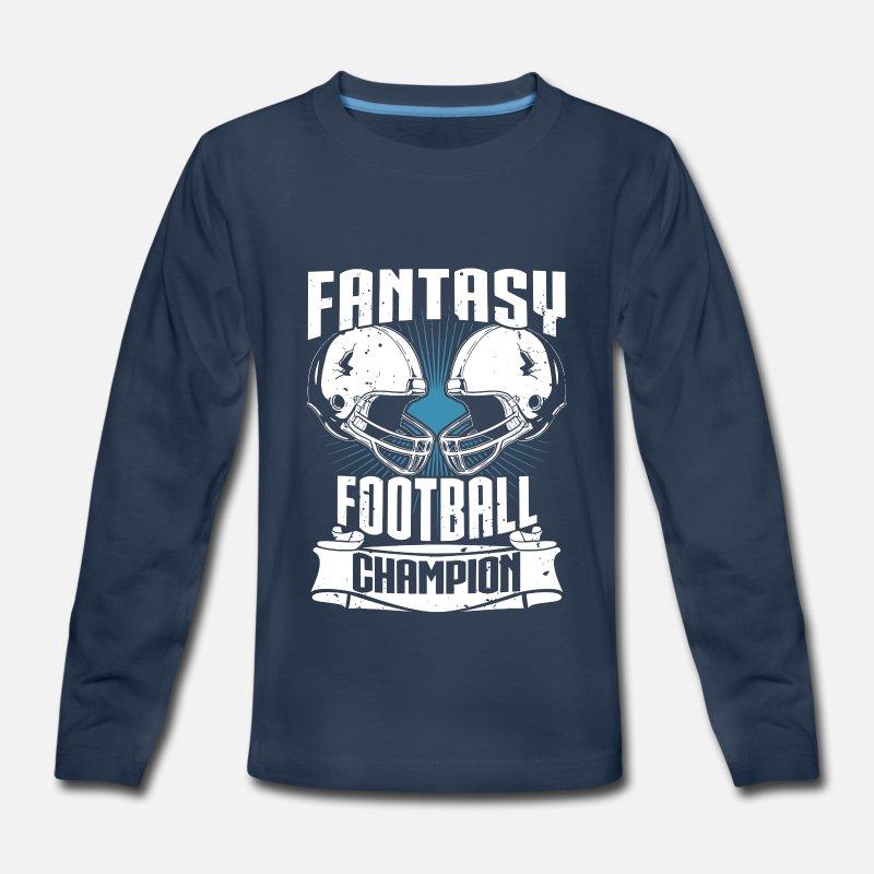 3572c6cd4e38 Football T-Shirts - Fantasy Football Champion Fantasy Sports - Kids   Premium Longsleeve Shirt