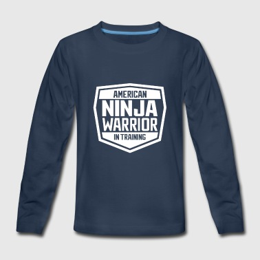 American Ninja Warrior In Training Tshirt - Kids' Premium Long Sleeve T-Shirt
