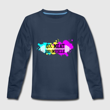 Muscle Meat 0% meat. 100% muscle - Kids' Premium Long Sleeve T-Shirt
