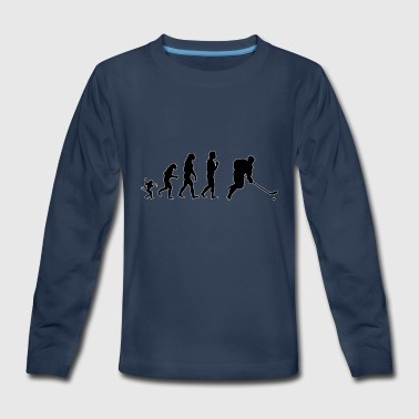 Ice hockey evolution, #Ice hockey - Kids' Premium Long Sleeve T-Shirt