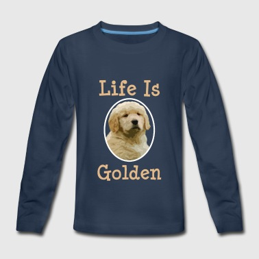 Golden Retriever Dog Lover Golden Retriever Gift Life is Golden Retriever Dog - Kids' Premium Long Sleeve T-Shirt