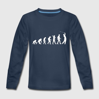 Golf Evolution GOLF EVOLUTION - Evolution of Golf - Kids' Premium Long Sleeve T-Shirt