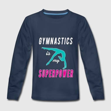 Coach Cute Gymnastics is my Superpower gift for Girls - Kids' Premium Long Sleeve T-Shirt