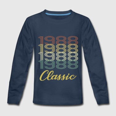 1988 classic shirt born in present idea sport - Kids' Premium Long Sleeve T-Shirt