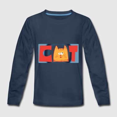 Cat face - Kids' Premium Long Sleeve T-Shirt
