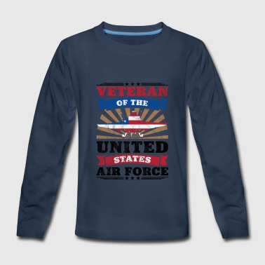 United States Armed Forces Veteran Of The United States Air Force Merch - Kids' Premium Long Sleeve T-Shirt