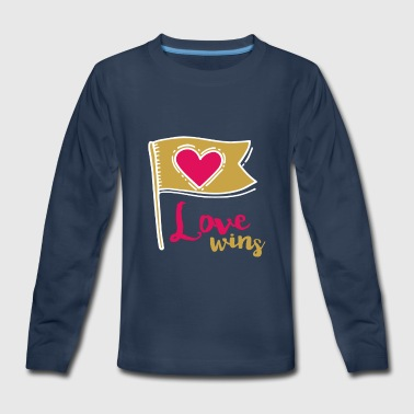 Love Wins - Kids' Premium Long Sleeve T-Shirt