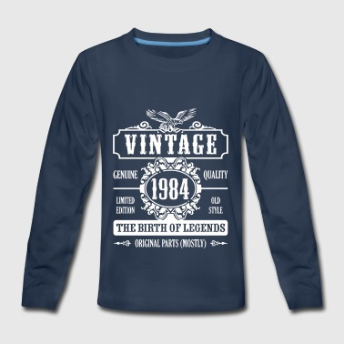 Vintage 1984 The Birth Of Legends - Kids' Premium Long Sleeve T-Shirt