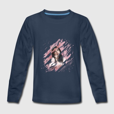 Space Girl T-Shirt - Kids' Premium Long Sleeve T-Shirt