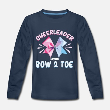 Foodball Cheerleader High School Cheergirl Bow Pom Pom Gift - Kids' Premium Longsleeve Shirt