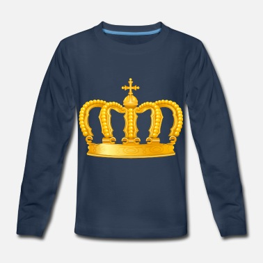 Royal King golden crown vip Monarch jewel - Kids' Premium Longsleeve Shirt