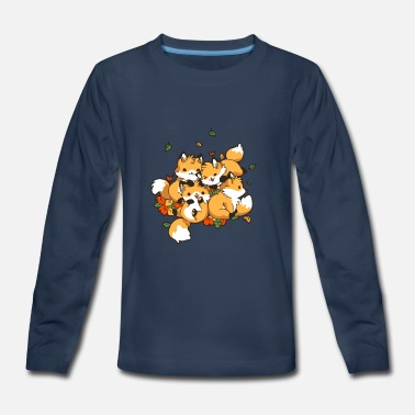 Playful Playful Foxes - Kids' Premium Longsleeve Shirt
