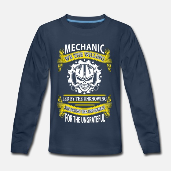 Monkey T-Shirts - Mechanic We The Willing T-Shirts - Kids' Premium Longsleeve Shirt navy