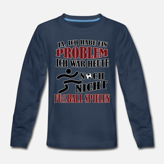 Girls Long-Sleeve Shirts - Soccer Football playing soccer gift - Kids' Premium Longsleeve Shirt navy