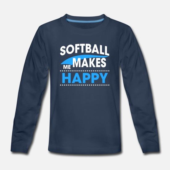 Softball T-Shirts - SOFTBALL - Kids' Premium Longsleeve Shirt navy