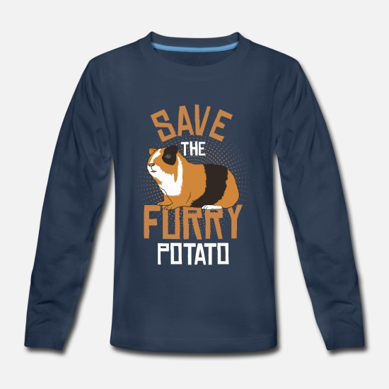Furry T-Shirts - Save the furry potato - Kids' Premium Longsleeve Shirt navy