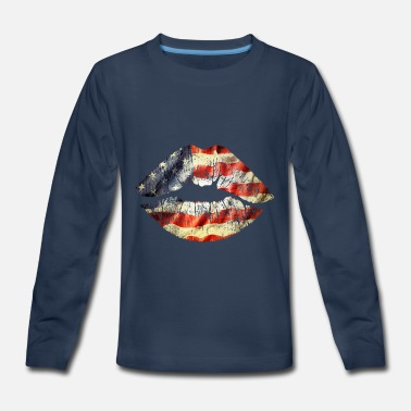American Kiss - Kids' Premium Long Sleeve T-Shirt