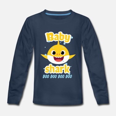 Baby shark doo doo shirt toddlers outfit girl - Kids' Premium Long Sleeve T-Shirt