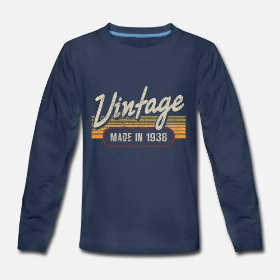 Made In 1938 T-Shirts - Vintage MADE IN 1938 - Kids' Premium Longsleeve Shirt navy