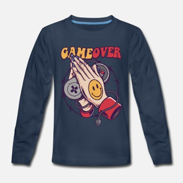 Over Smiley Game Over - Kids' Premium Longsleeve Shirt