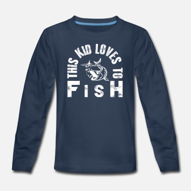 Fishing For Kids This Kid Loves to Fish - Kids Fishing Gift - Kids' Premium Longsleeve Shirt