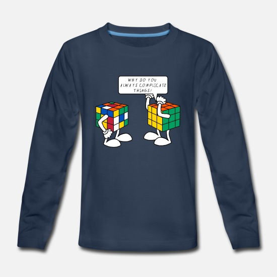Rubik's Cube Long-Sleeve Shirts - Rubik's Cube Complicate Things - Kids' Premium Longsleeve Shirt navy