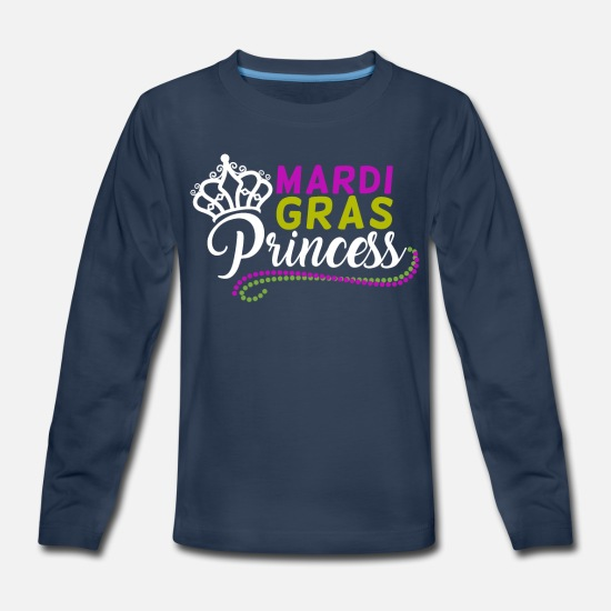 Party Long-Sleeve Shirts - Mardi Gras Princess Carnival Party Parade Women - Kids' Premium Longsleeve Shirt navy