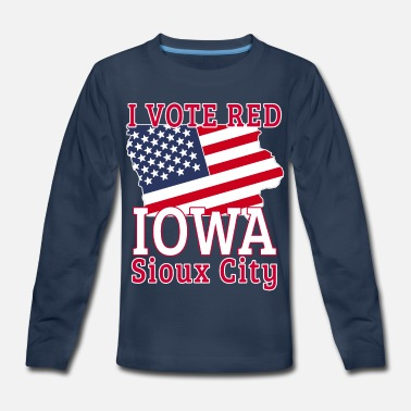 Iowa 2020 Presidential Campaign I Vote Red Iowa Sioux - Kids' Premium Longsleeve Shirt