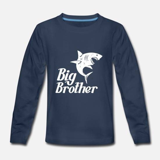 Big Brother Long-Sleeve Shirts - Big Brother - Kids' Premium Longsleeve Shirt navy