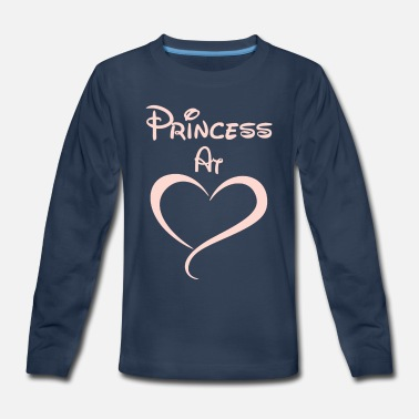 Princess At Heart - Kids' Premium Long Sleeve T-Shirt