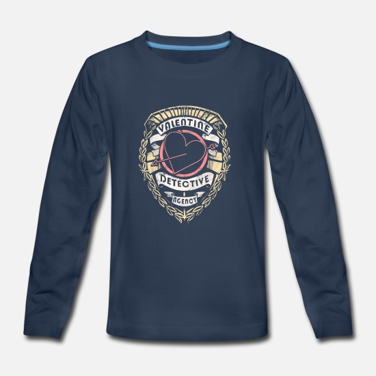 Day Long-Sleeve Shirts - Valentine Detective Agency - Kids' Premium Longsleeve Shirt navy