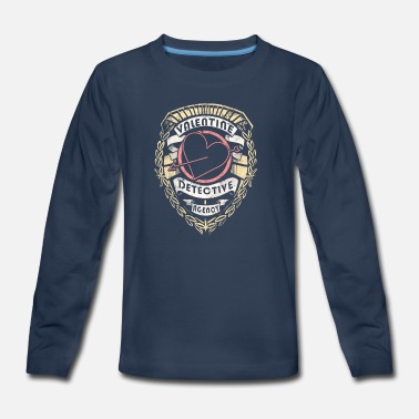 Valentine's Day Valentine Detective Agency - Kids' Premium Long Sleeve T-Shirt